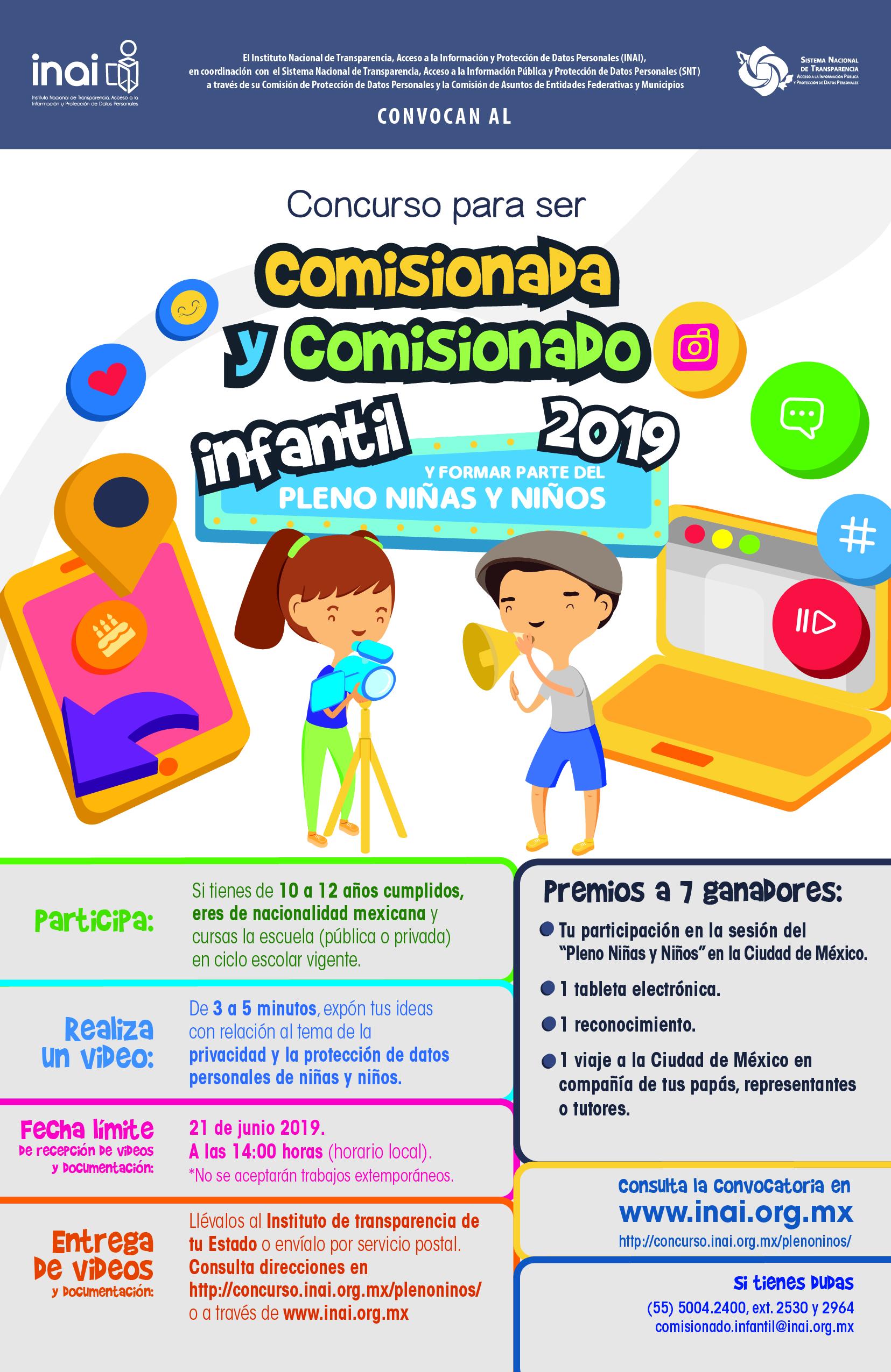 3. Concurso para ser Comisionada y Comisionado Infantil 2019_Volante Fond Blanco (1)